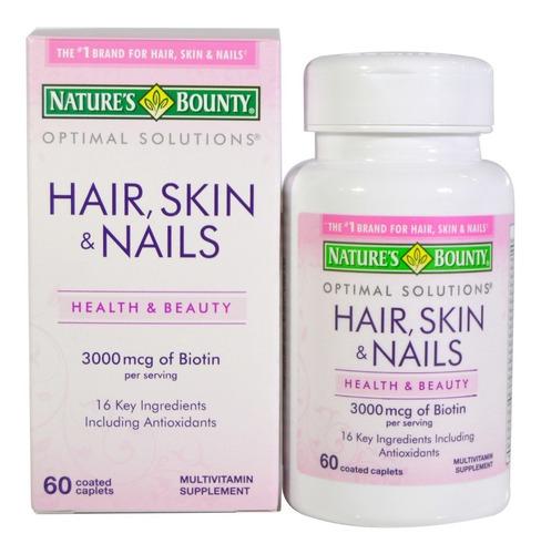 Hair Skin & Nails Tabletas 60u Nature's Bounty Pelo Piel Uña