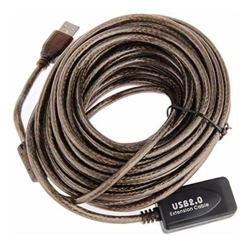 Cable Dextension Usb Activo 15m Metros Blindado Sin Perdida-