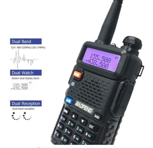 Radio Walkie Talkie Digital Baofeng Uv-5r Triband Vhf/uhf/fm