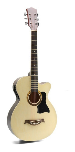 Guitarra Criolla Electroacustica Madera Funda Cuerdas Acero