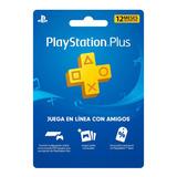 Tarjeta Plus 12 Meses - Playstation Plus 1 Año - Colombia