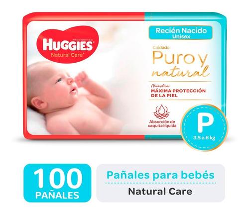 Pañales Huggies Natural Care P Promopack X 50 Pack X 2