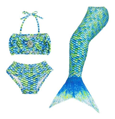 Nasjac Trajes De Baño De Para Niñas Sirena Para Nadar