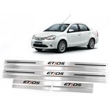Cubre Zocalos Inoxidable P/ Toyota Etios Accesorio