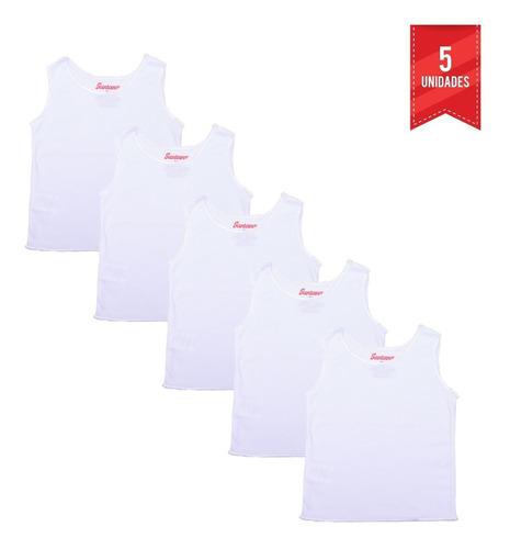 Combo X5 Camiseta Esqueleto Bebé Blanco