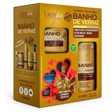 Kit Especial Banho De Verniz  Forever Liss Com Brinde