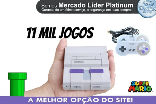 Mini Retro 2 Controles Super Nintendo 8 Mil Jogos Ps1 N64