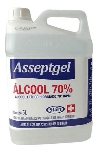 Álcool Liquido 70% Start Asseptgel 5l Loja Limpeza Hospital