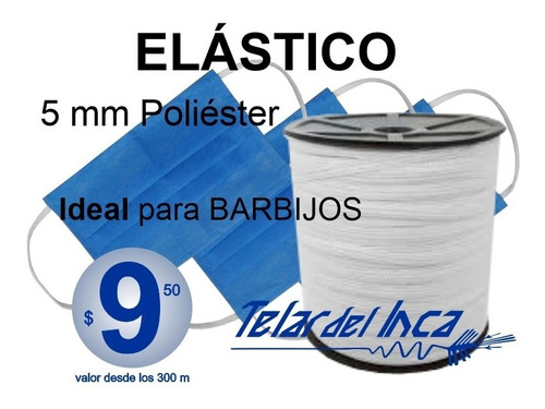 Elástico 5 Mm Ideal Para Barbijos $ 9,5 M