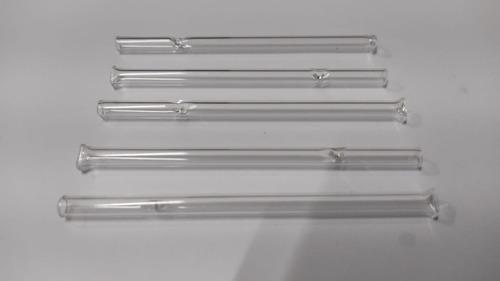 5 Piteiras De Vidro Longa 8cm X 4mm