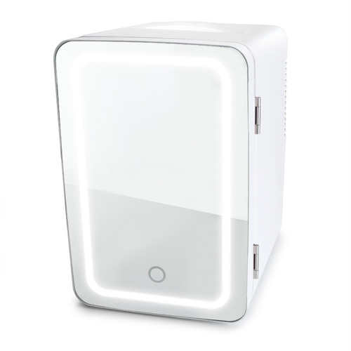 Mini Refrigerador Con Luz Led Espejo  Blanco  Skincare / A