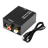 Convertidor Audio Digital A Analogico Coaxial Optico A Rca