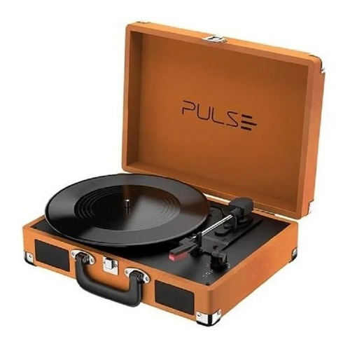 Vitrola Toca Discos Retro Pulse Suitcase Bt/aux/usb Sp364