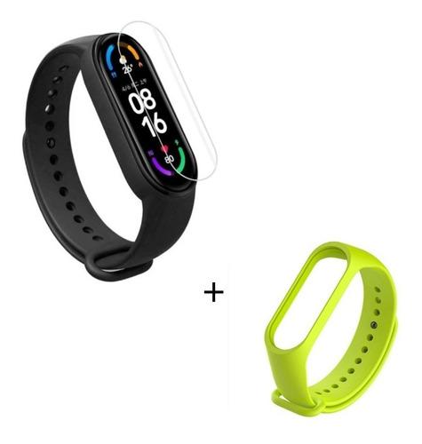 Combo Xiaomi Mi Band 6 Smart Watch En Español + Film + Malla