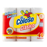 Rollo De Cocina El Coloso 3 X 40 Paños
