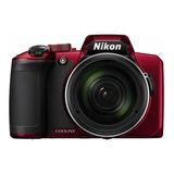 Nikon Coolpix B600 Compacta Color  Rojo