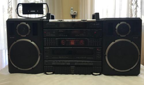 Equipo De Música Sharp Stereo Modelo Cd-x99h (bk)  C/cremoto