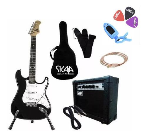Kit Guitarra Electrica Amplificador Bocina Accesorios Bellat