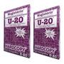 Kit 2 Caixas 200 Jg Papel Hectografico U-20 Hard Tatoo Roxo Original