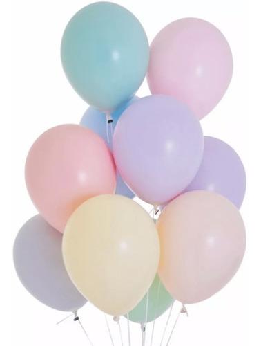 25 Globos Pastel 12   Colores Surtidos  Cumpleaños Fiestas