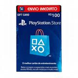 Cartão Playstation Psn Card Brasileira R$ 100 Reais