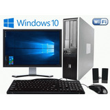 Pc Computadora Core I3 4gb + Monitor 19 + Wifi + Windows 10