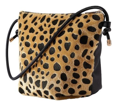 Bolsa Convertible Para Dama Textura De Leopardo Oriflame