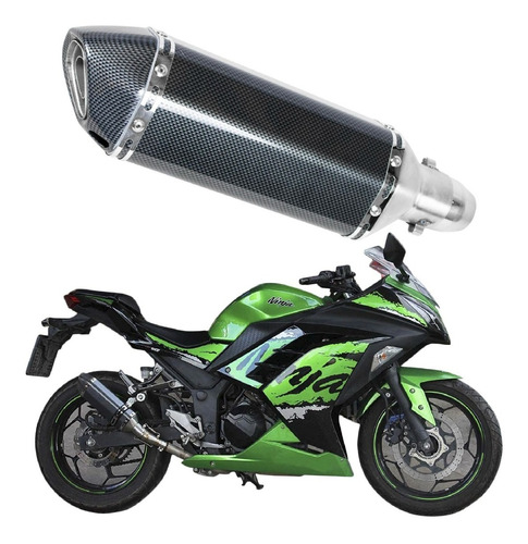 Escape Motocicleta Deportivo Fibra De Carbono Universal 51mm