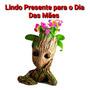Groot Vaso Suculenta Porta Objetos 15cm Linda Igual Da Foto Original