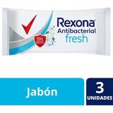 Rexona Jabón En Barra Antibacterial 3x90g