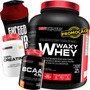 Kit Whey Protein 2kg + Bcaa + Creatina + Shaker Original