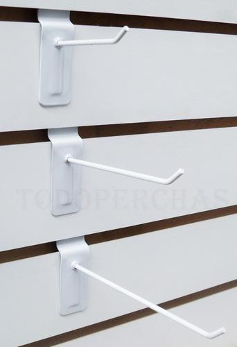 50 Ganchos Blisteros Panel Ranurado De 15 Cm - Pack De 50