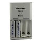 Cargador Panasonic Eneloop + 2 Pilas Recargables Aa 2000 Mah
