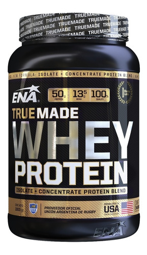 True Made Whey Protein Ena 1kg Concentrada Isolada Truemade