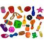 Kit 10 Mordedores Brinquedo Diversos P/ Cachorros Pequenos Original
