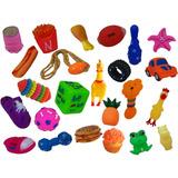 Kit 10 Mordedores Brinquedo Diversos P/ Cachorros Pequenos