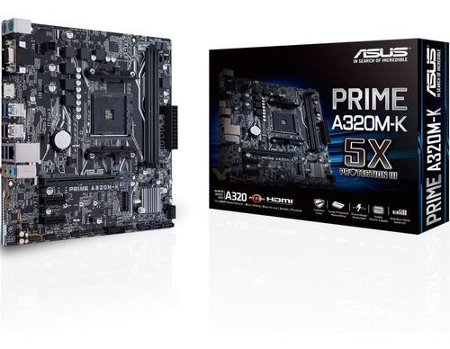 Motherboard Asus Prime A320m-k Am4 Ddr4 Usb 3.0 Hdmi Mexx