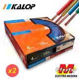 Cable Unipolar Kalop 4mm Cat 5 Iram  X 2 Electro Medina