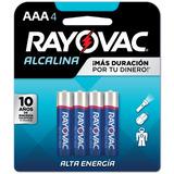 Pilas Aaa Alcalinas Rayovac Blister X 4