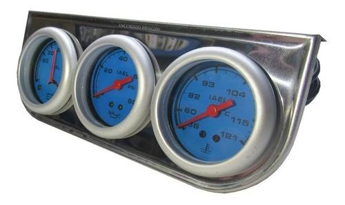 3 Relojes Temperatura Agua Aceite Amperimetro 52mm