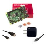 Starter Kit Raspberry Pi 4 B 4gb Uk + Dis + Fue 3a C + Hdmi