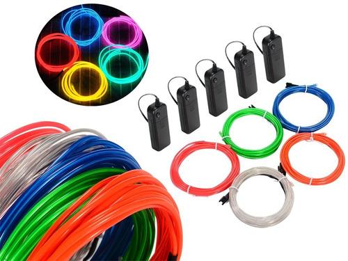 Wire Hilo 3m Luminoso Luz Neon Dj Cable + Controlador