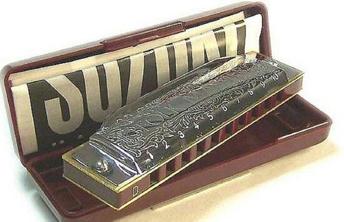 Armonica Suzuki 1072 Folkmaster 10 Hole Diatonica + Estuche