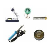 Kit14 Soldador 40w+soporte+estaño+malla Desol+resina Limpiad