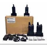 Radio De Comunicación C1+2 Bases+4 Baterías
