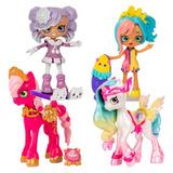Shopkins Happy Places Muñeca O Pony Shoppies Mini + Petkin