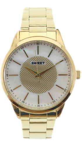 Reloj Sweet 7110 Dorado Original Mujer Garantia Oficial 12m.