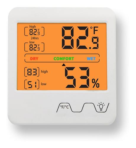 Termómetro Higrómetro Digital Medidor De Temperatura Humedad