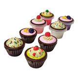 Set Brillo Labial Niñas X8 Forma De Cupcake Set Maquillaje