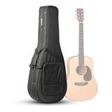 Semi Case Super Luxo Standard Para Violão Folk Black Preto